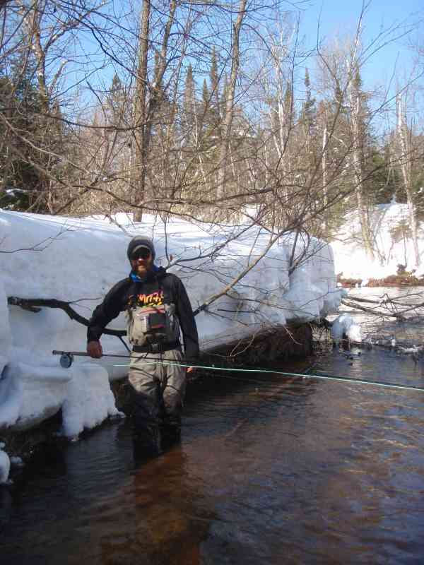 Transition fly by night guide service for Brule river fishing report
